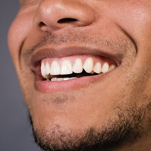 Close-up of an attractive smile