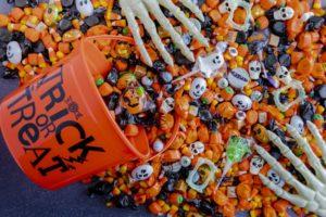 Closeup of Halloween candy